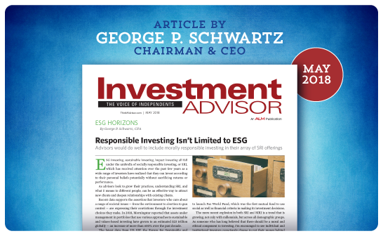 Investment Advisor – May 2018